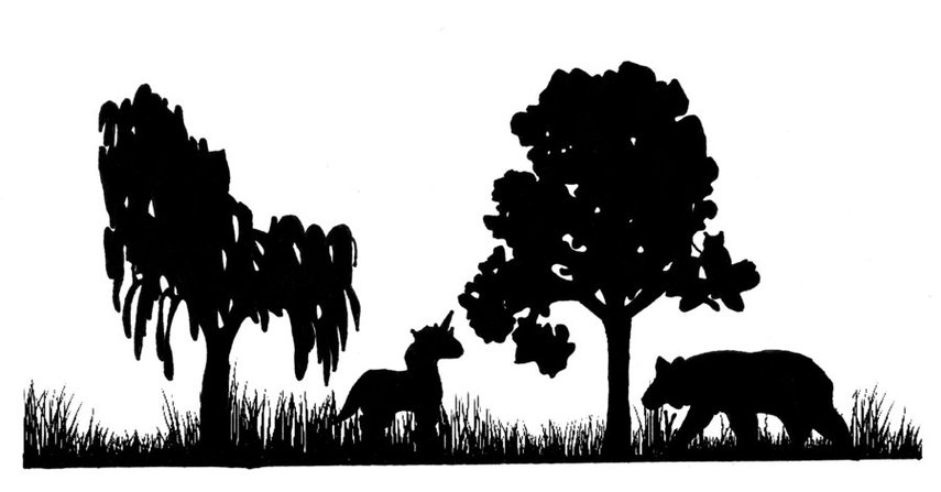 Clipart forest silhouette.