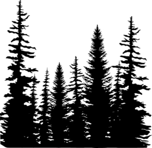 Forest Silhouette Clipart.