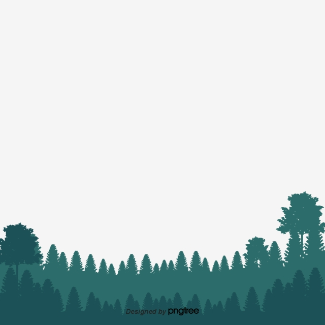 Green Forest Silhouette In Spring, Bud, Spring, Twig PNG and Vector.