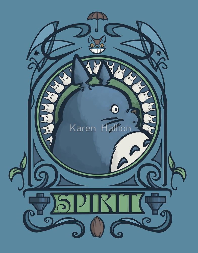 """Forest Spirit Nouveau"""" by Karen Hallion."""
