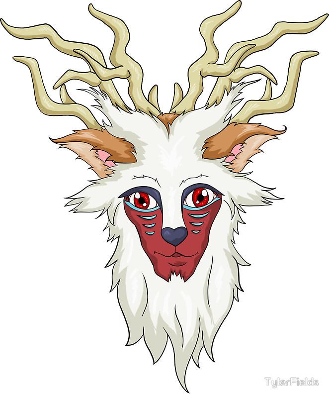 "Princess Mononoke: Forest Spirit"" Stickers by TylerFields."