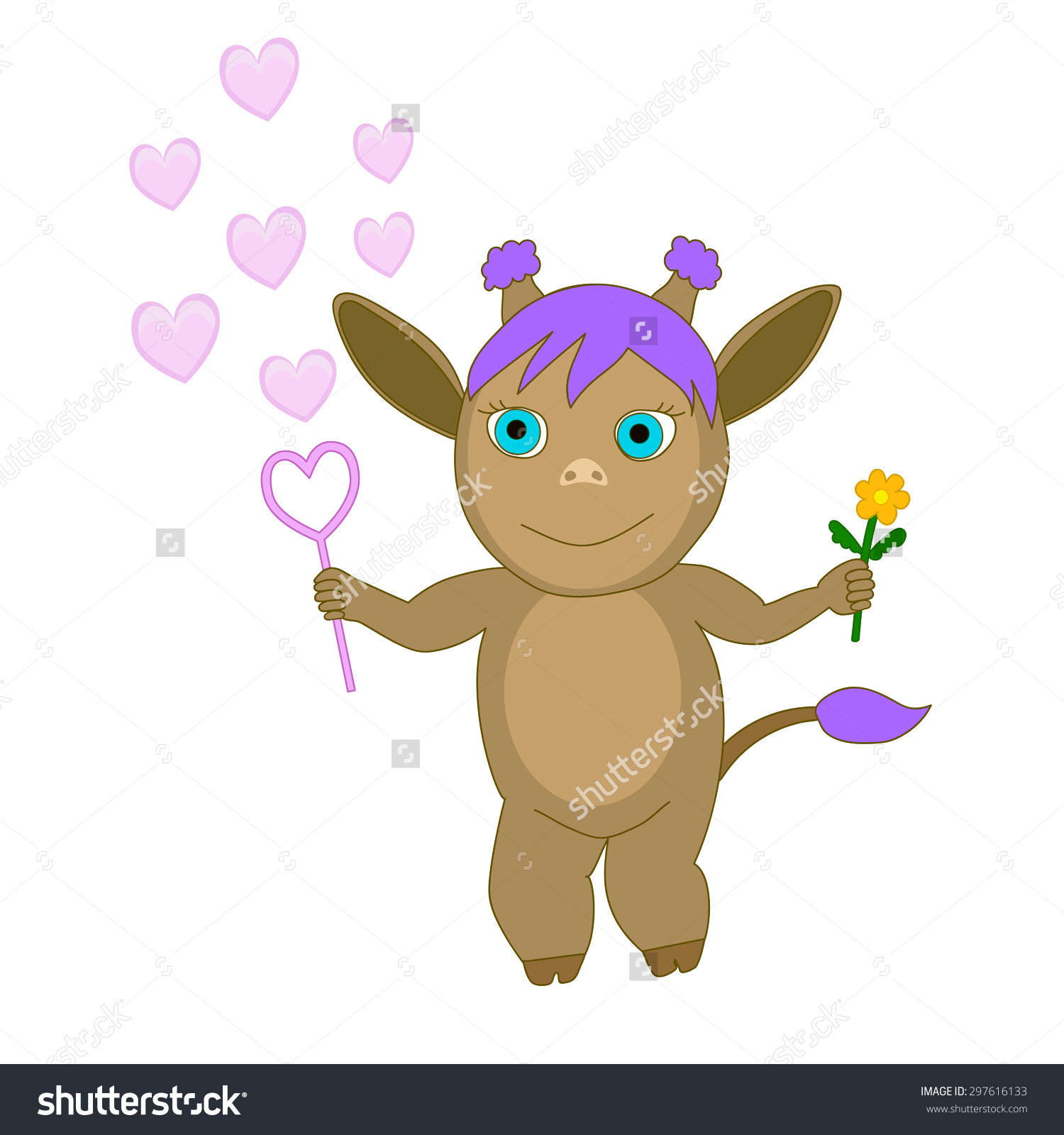 Baby Satyr Vector Illustration Forest Spirit Stock Vector.