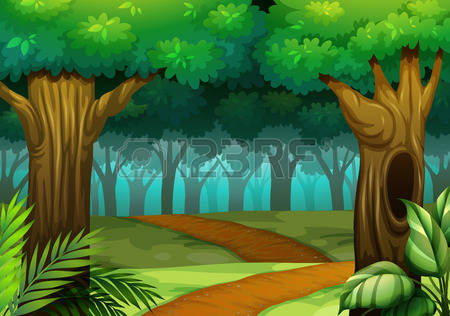 Forest trail clipart -... Dark Path In The Woods