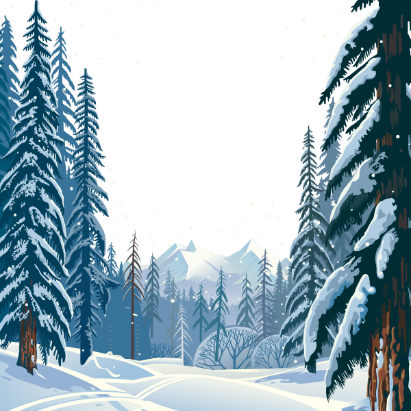 Vector Winter Forest, Winter Clipart, Hd, Vector PNG.