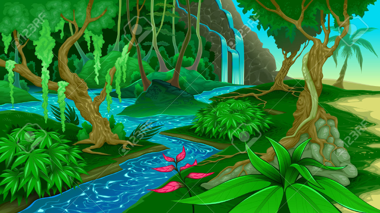 Forest views clipart #12