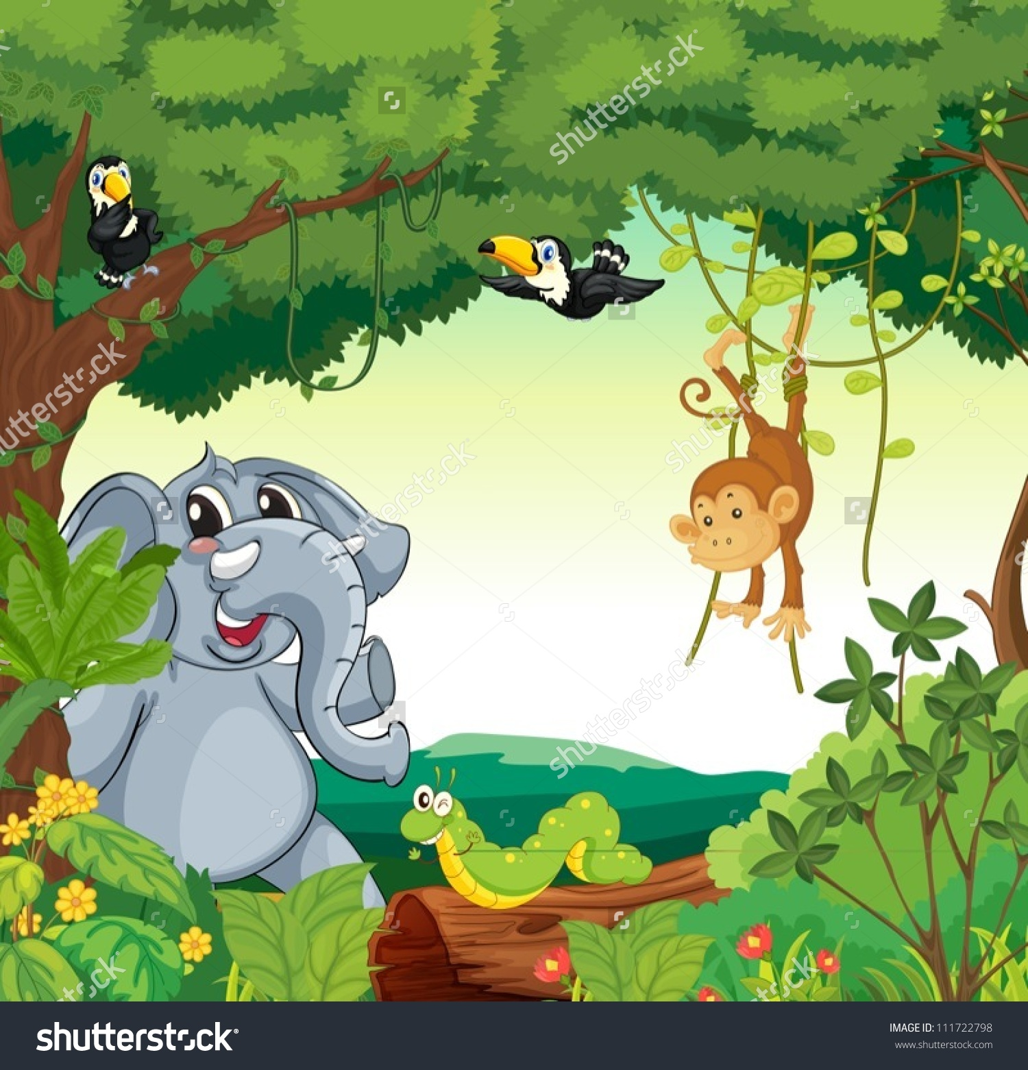 Jungle Forest Clip Art.