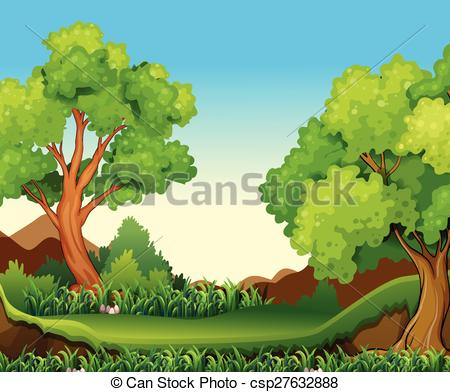 Forest views clipart #18