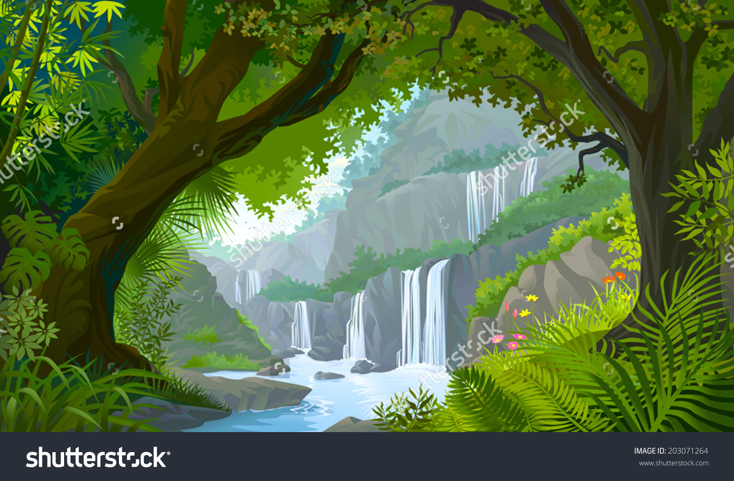 Natural forest clipart.
