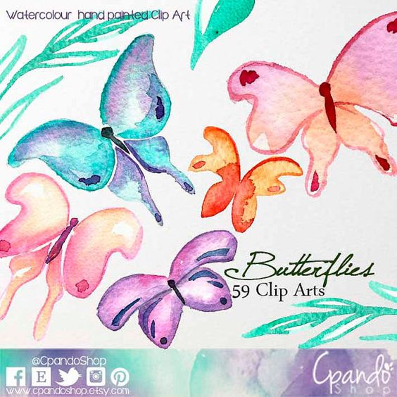 mariposas clip art, XV años clipart, mariposas clipart, primavera.