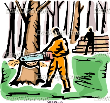 Forest workers clipart #20