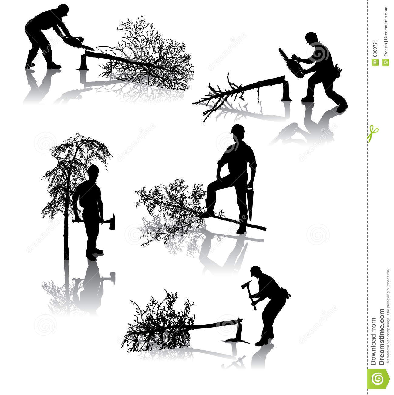 Forest workers clipart #11