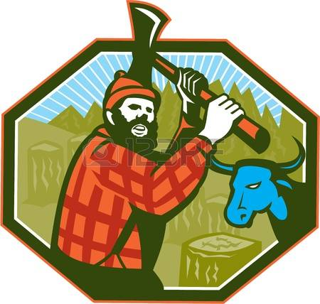 Forest workers clipart #17