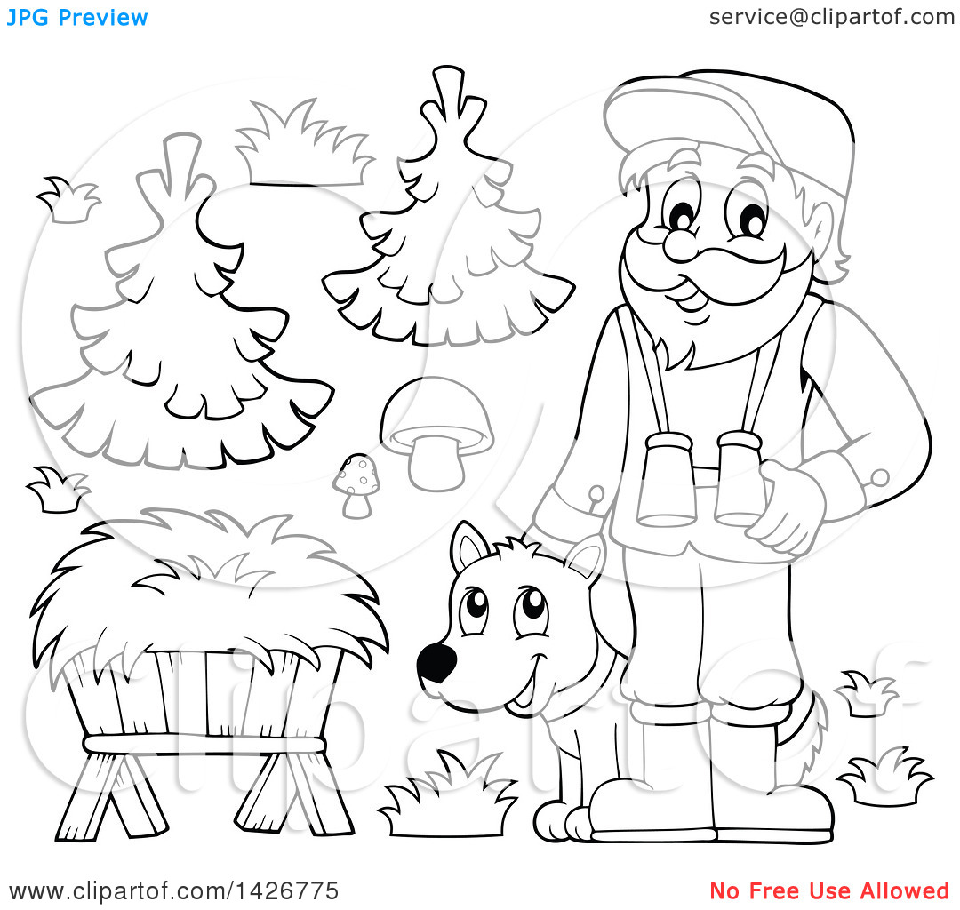 Forest workers clipart #15
