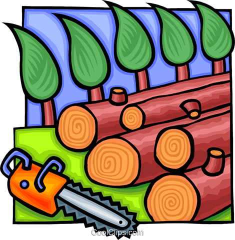 lumber and forestry industry Royalty Free Vector Clip Art.