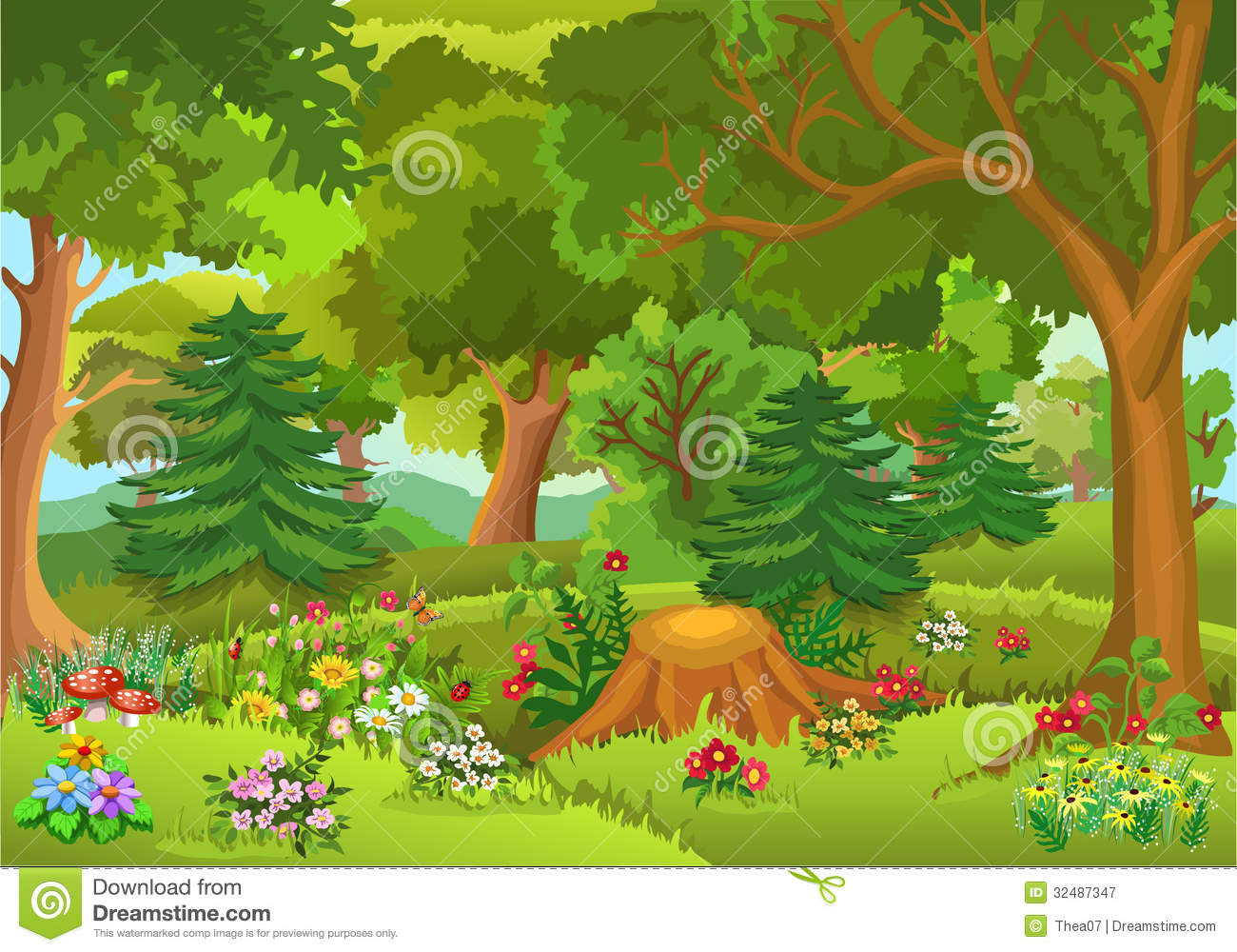 Free Clip Art of Forests.