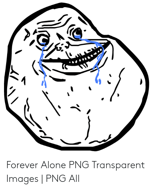 Forever Alone PNG Transparent Images.