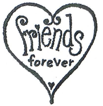 Friends forever clip art.