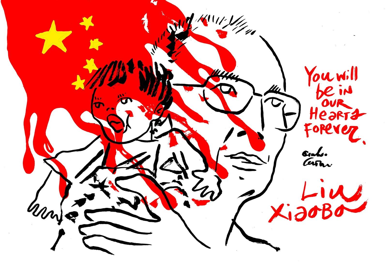 Channeldraw: Liu Xiaobo.