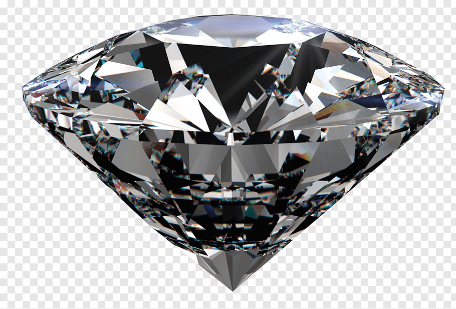 Clear diamond illustration, R.