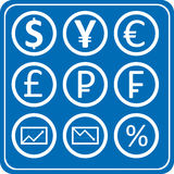 Finance Forex Icons Pack Stock Illustrations.