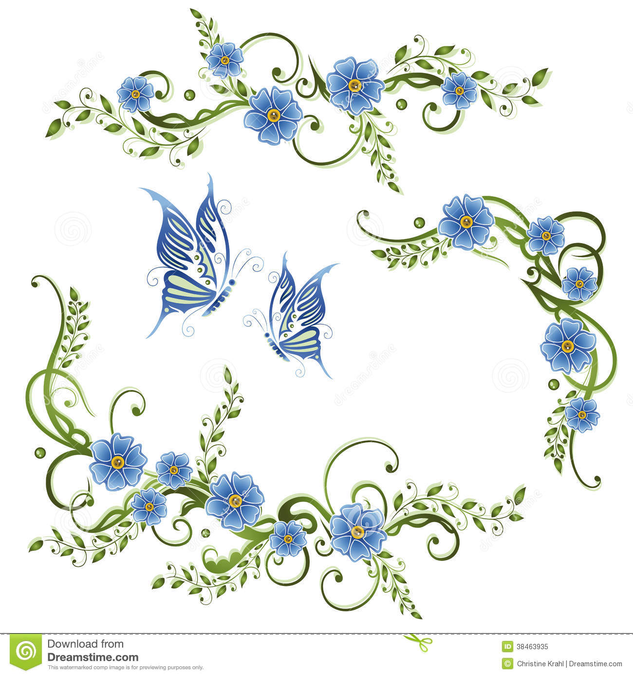 Forget Me Not Stock Illustrations.