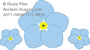 Royalty Free Clipart Illustration of Blue Forget.