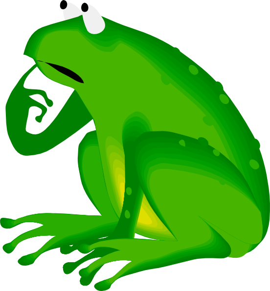 Forgetful Frog Clip Art at Clker.com.