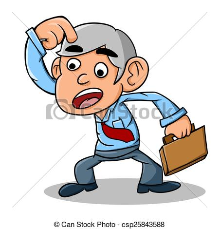 Stock Illustration of very confused.