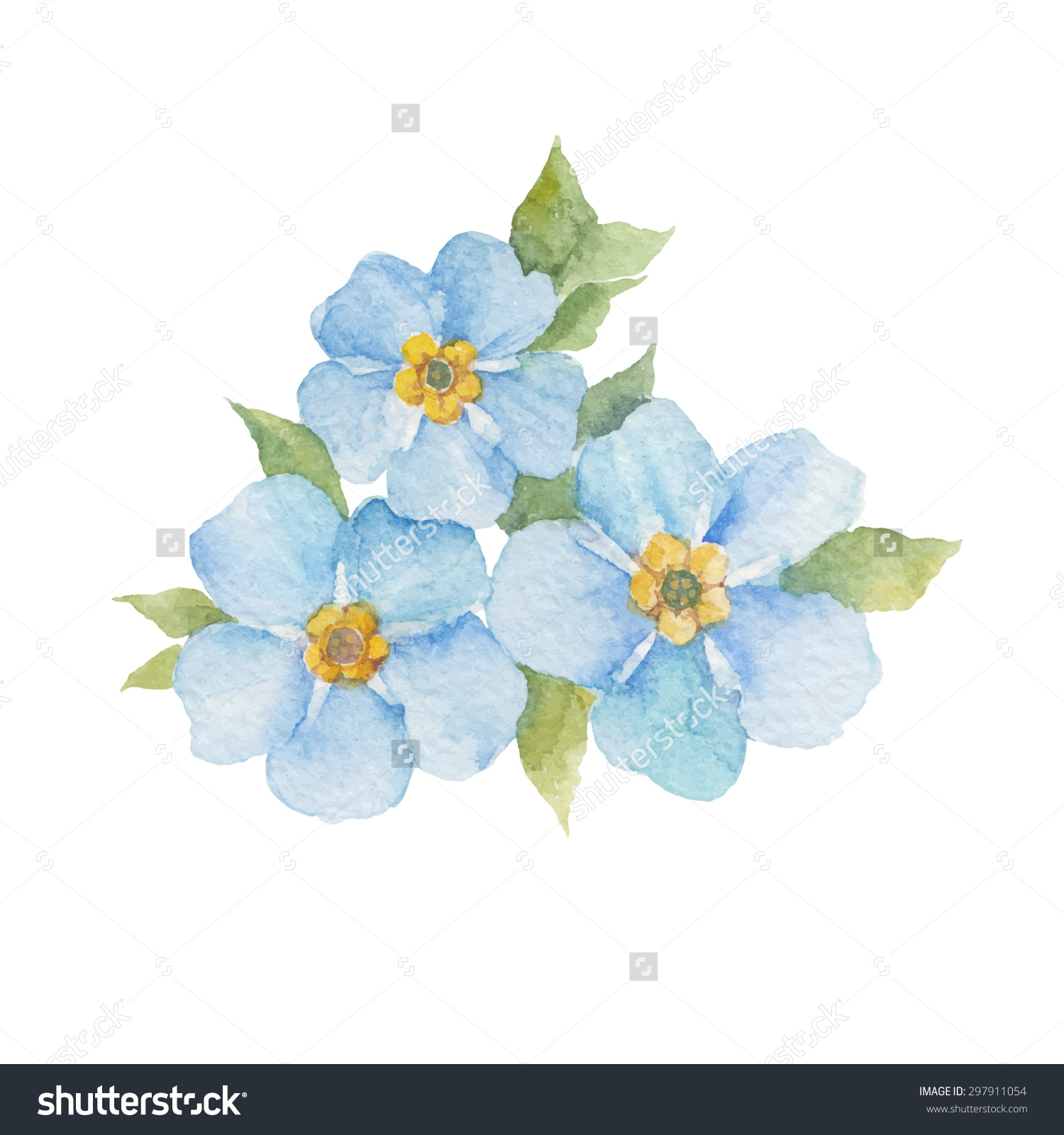 Forget Me Not Flowers Clipart.