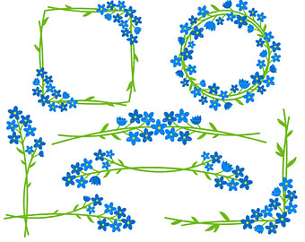 Forget me nots clipart.