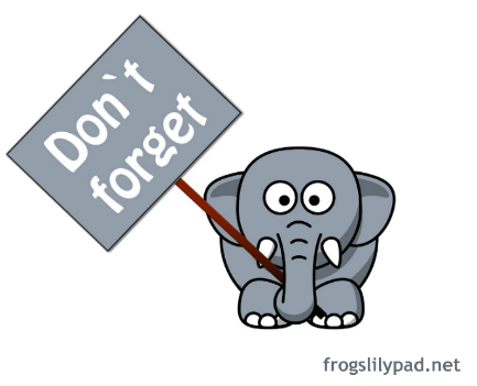 Watch more like Don T Forget Elephant Clip Art.