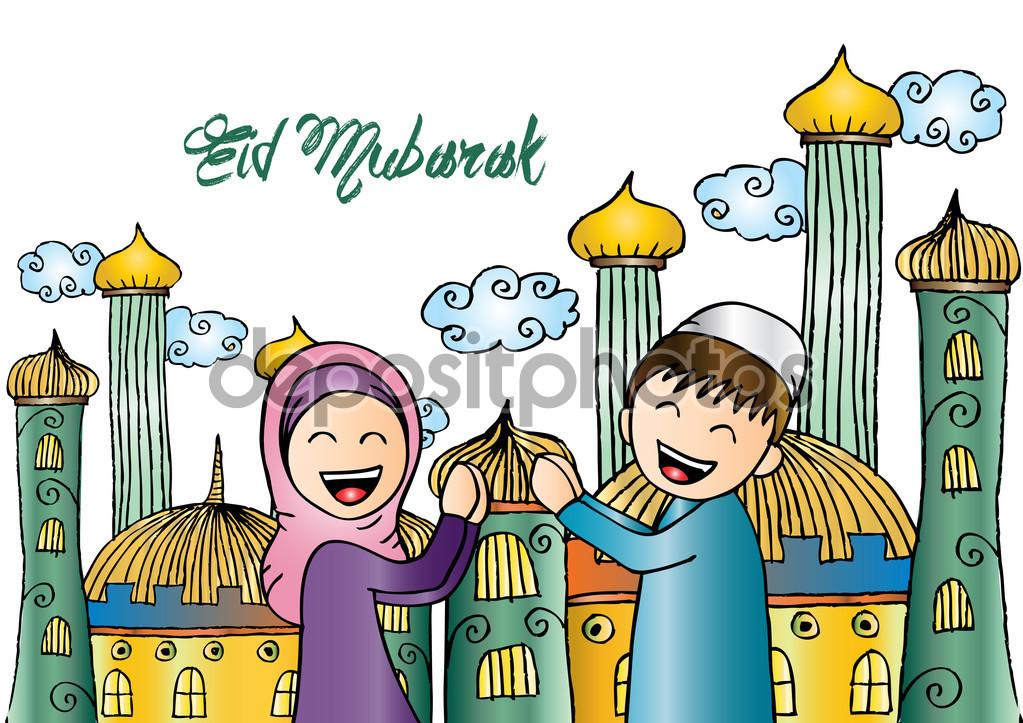Ramadan Forgiveness. Cartoon style. — Stock Photo © Handini #112937832.