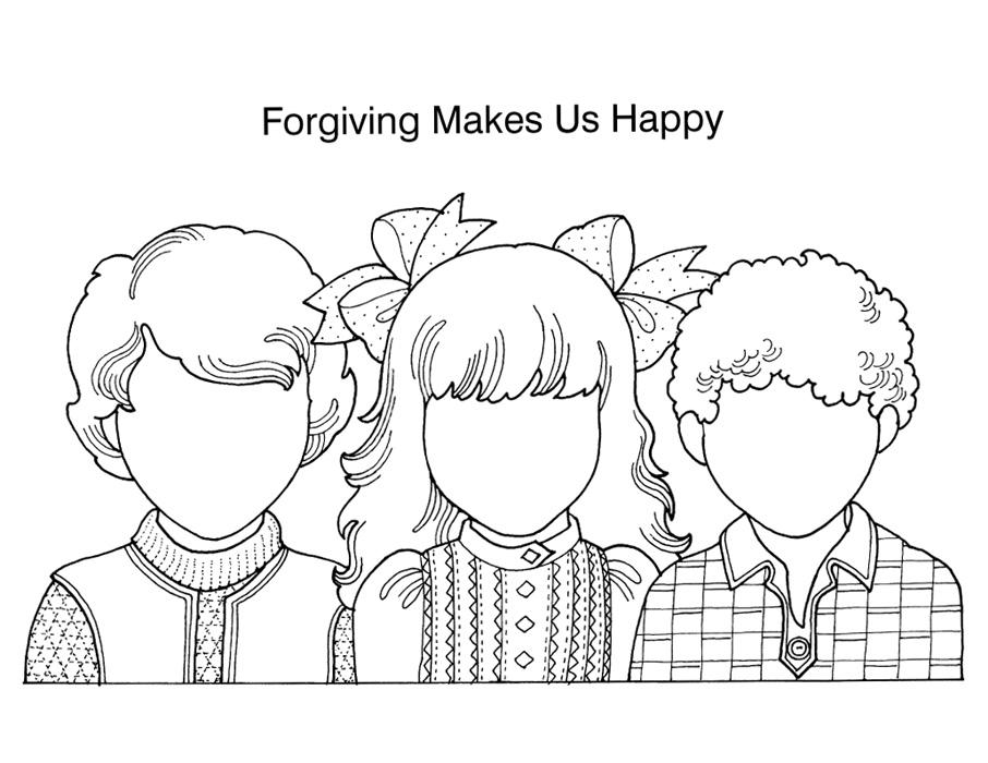 Kids forgiving clipart.