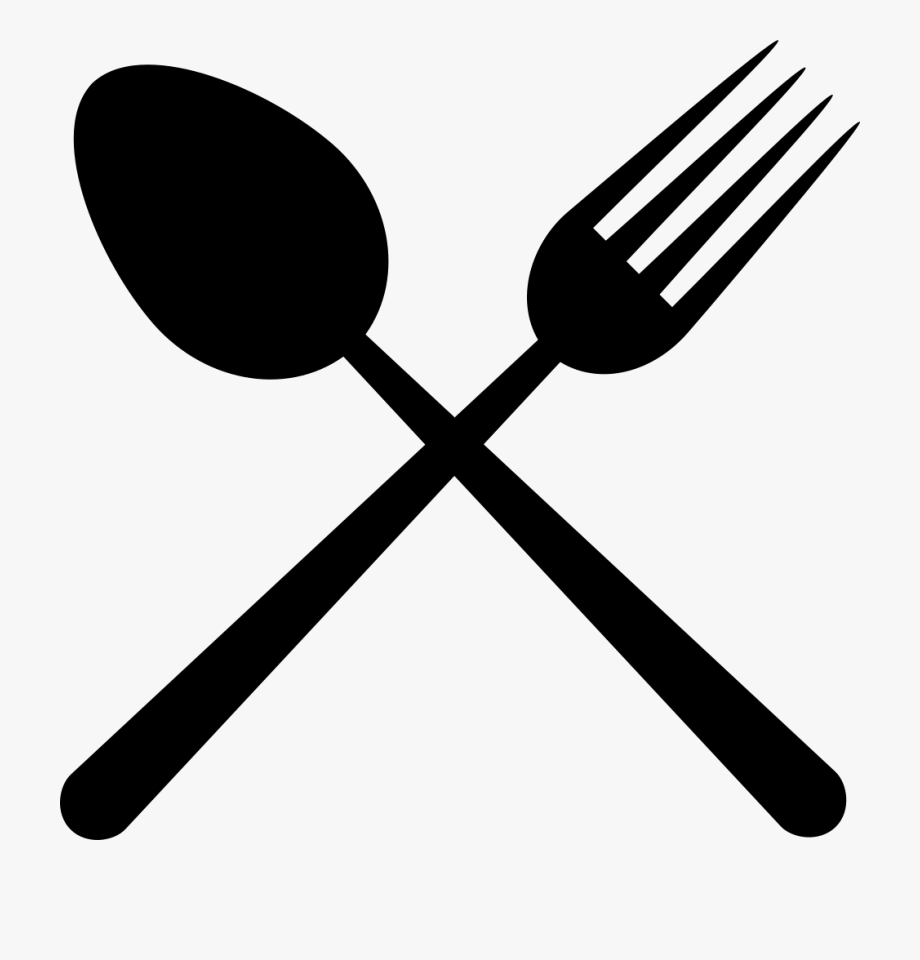 Spoon And Fork Crossed , Transparent Cartoon, Free Cliparts.