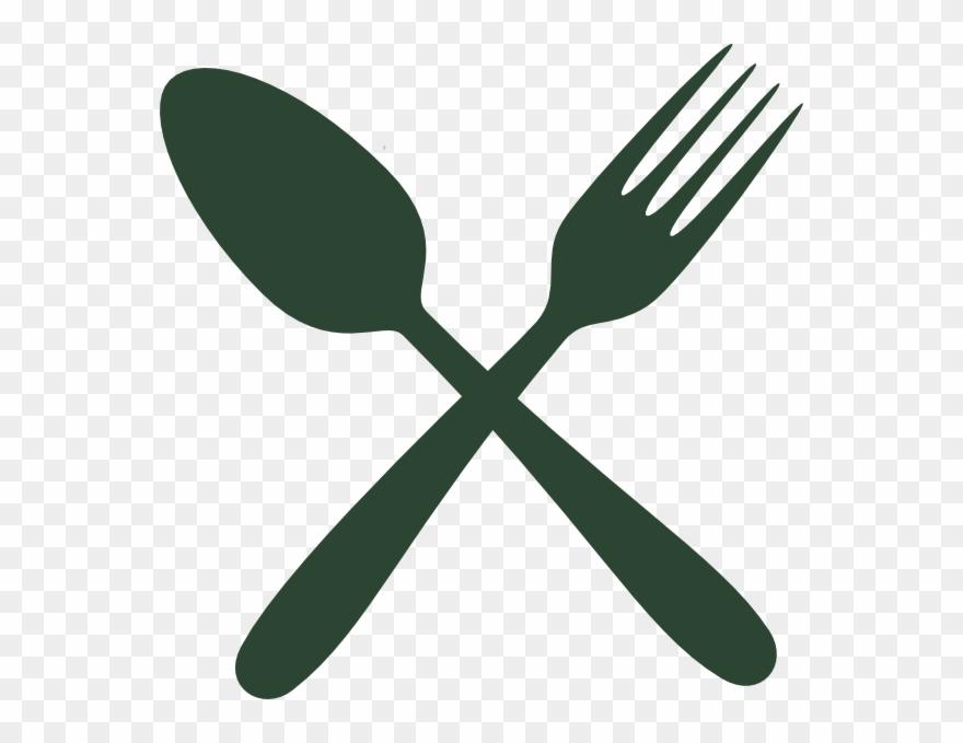 Green Cutlery Clip Art.