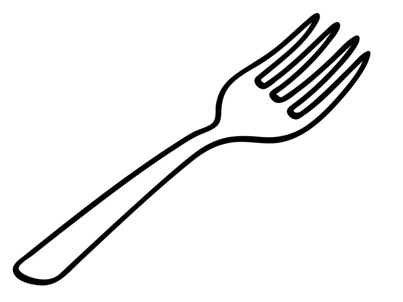 Fork Black And White Clipart.