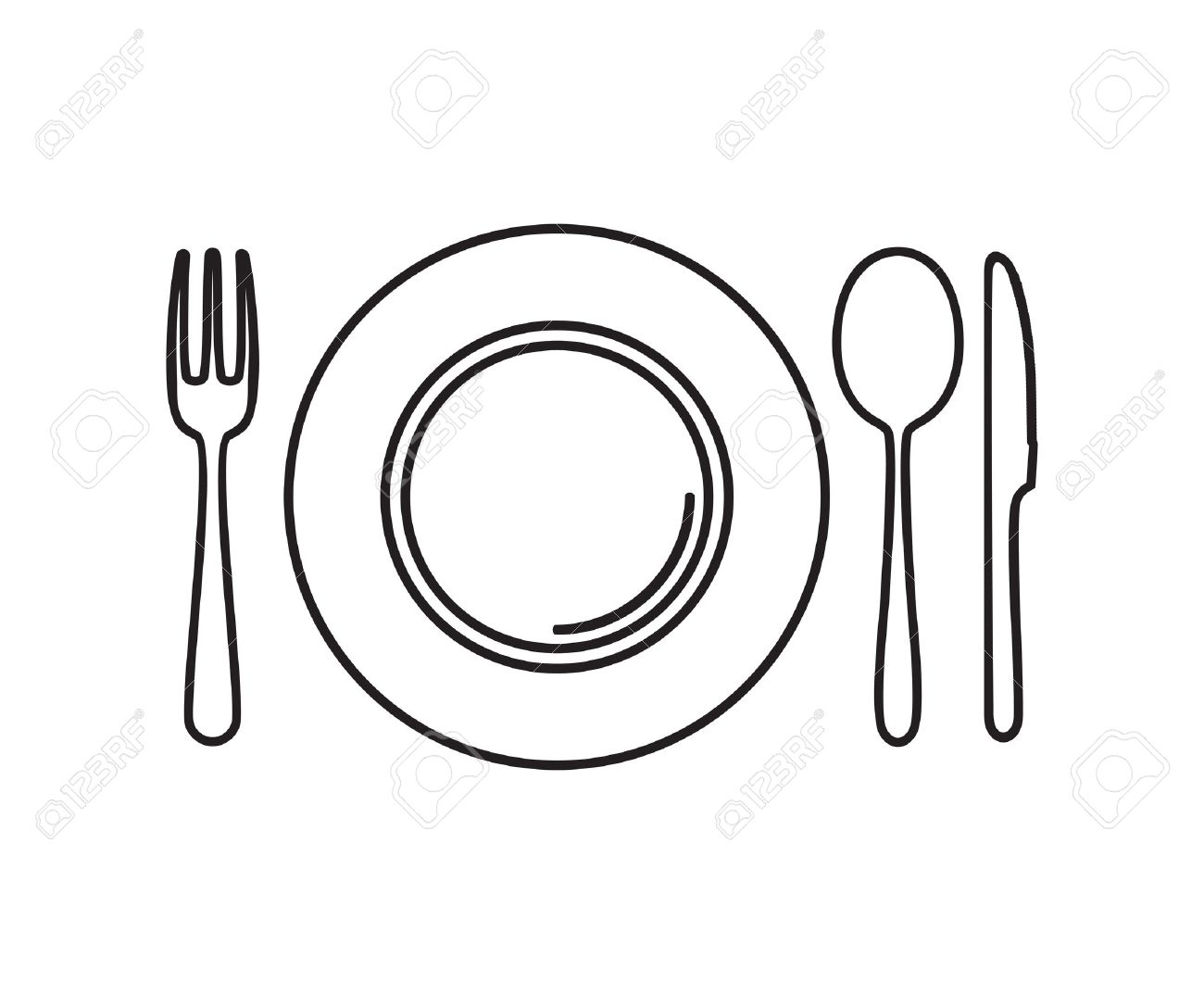 Fork knife spoon clipart 7 » Clipart Station.