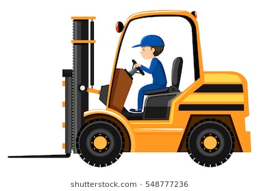 Fork lift clipart 2 » Clipart Station.