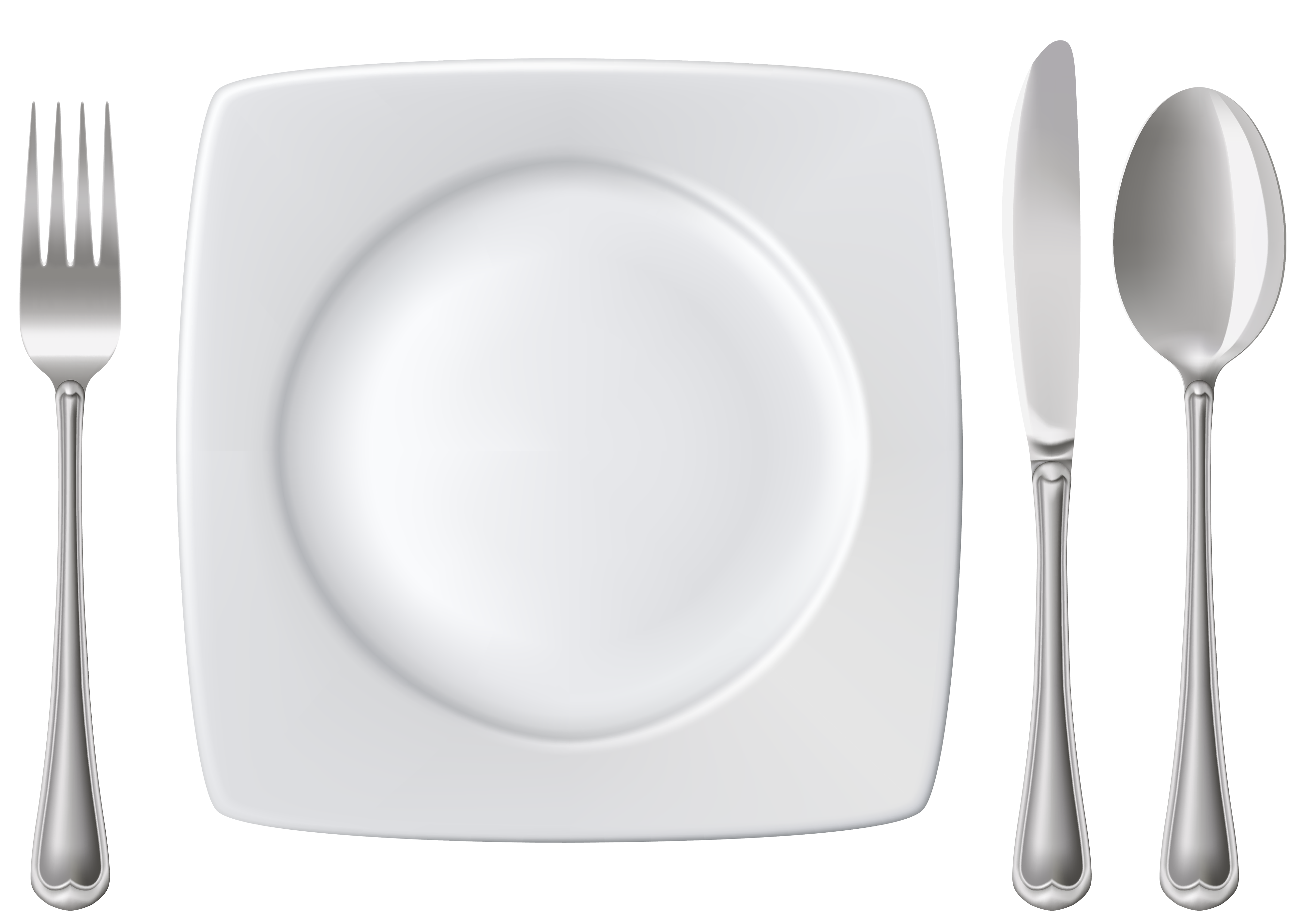 Plate Spoon Knife and Fork PNG Clipart.