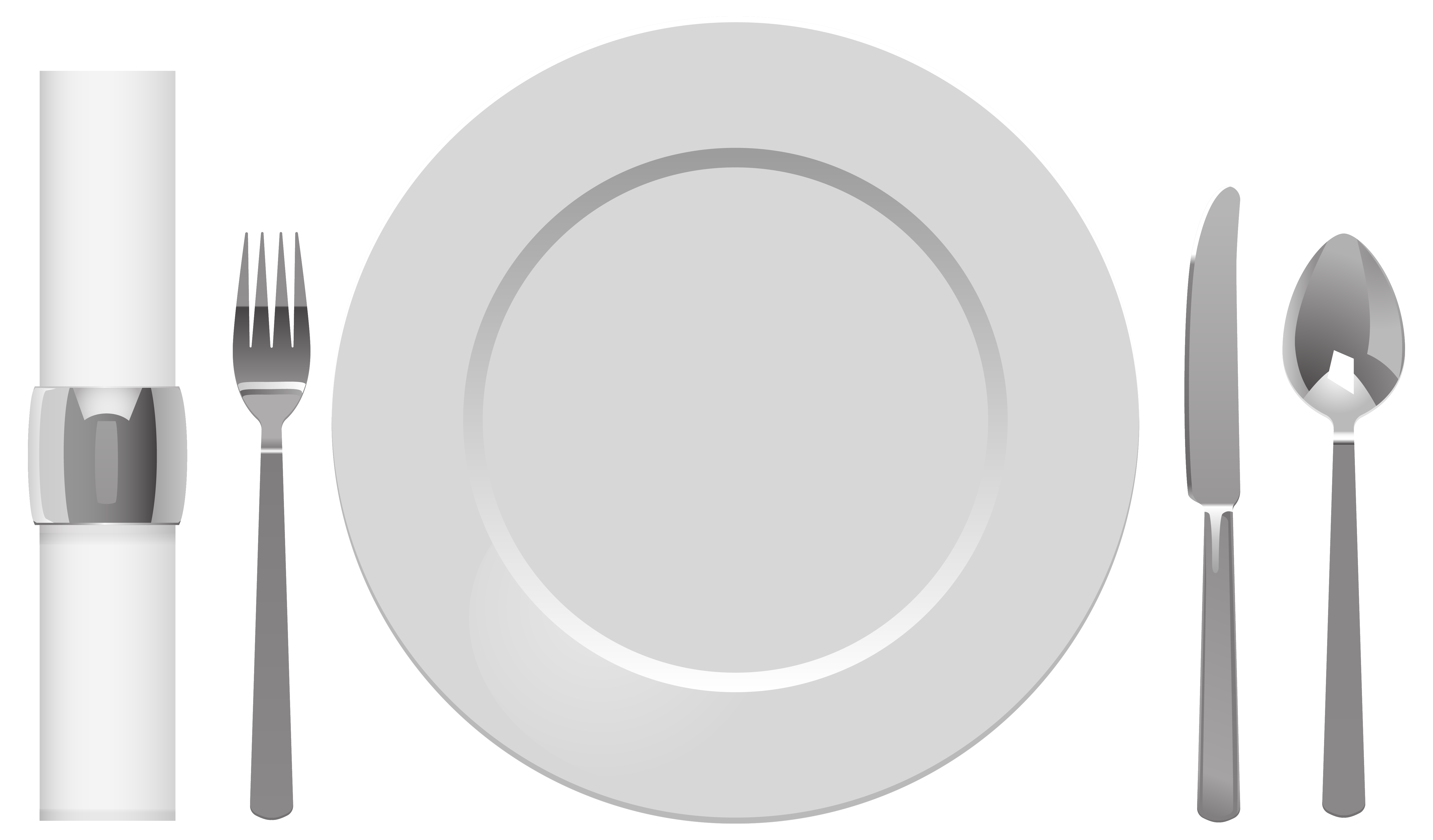 Plate Spoon Table Knife Fork and Napkin PNG Clipart.