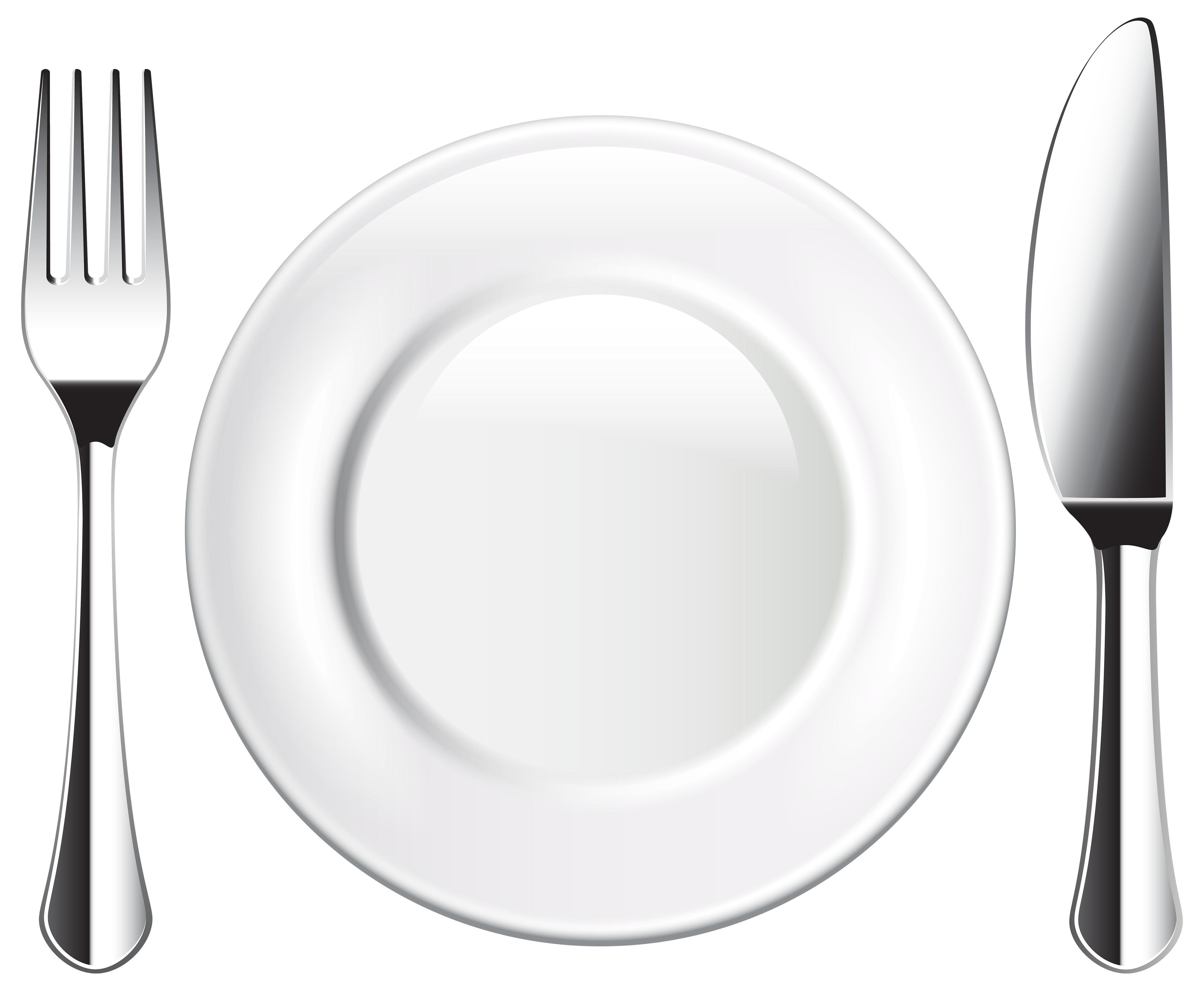 Plate Knife and Fork PNG Clipart.