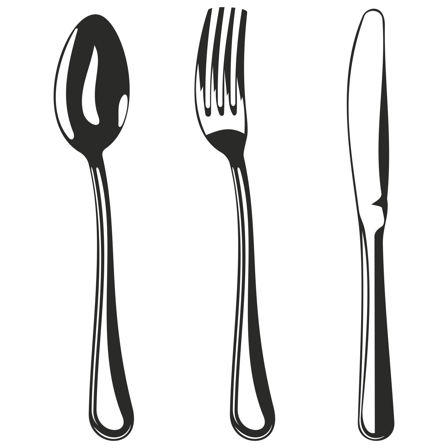 Free Fork And Spoon Silhouette, Download Free Clip Art, Free.