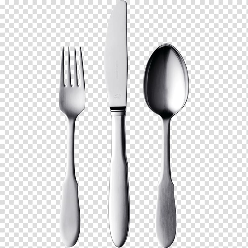 Silver steel fork knife and spoon, Knife Fork Spoon.