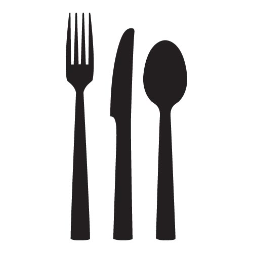 Clip art fork and spoon.
