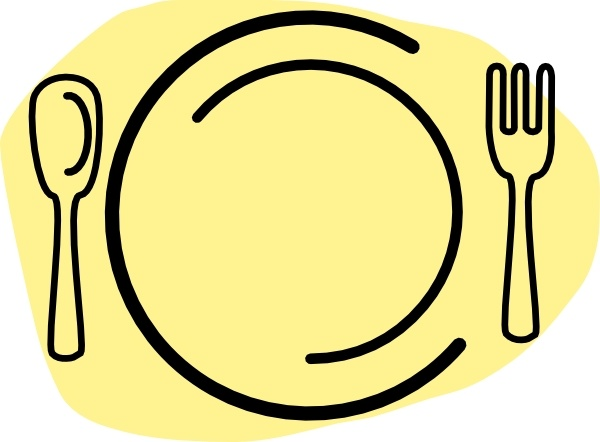Iammisc Dinner Plate With Spoon And Fork clip art Free.