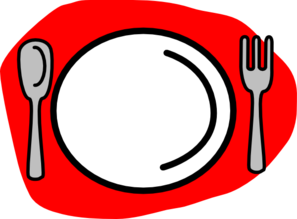Plate Spoon And Fork Clipart.