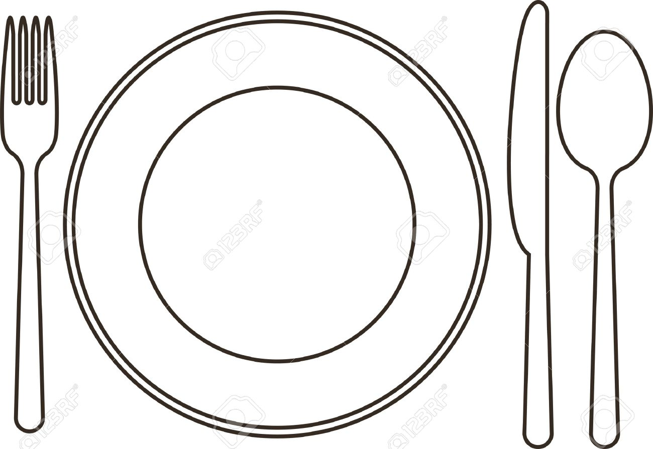5734 Plate free clipart.