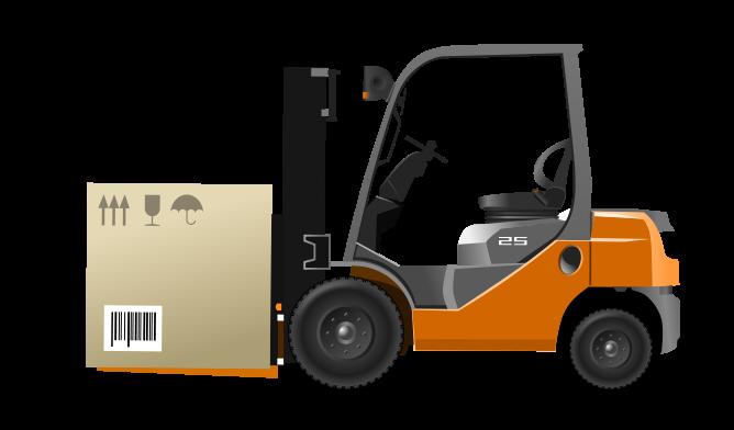 Clipart forklift truck.