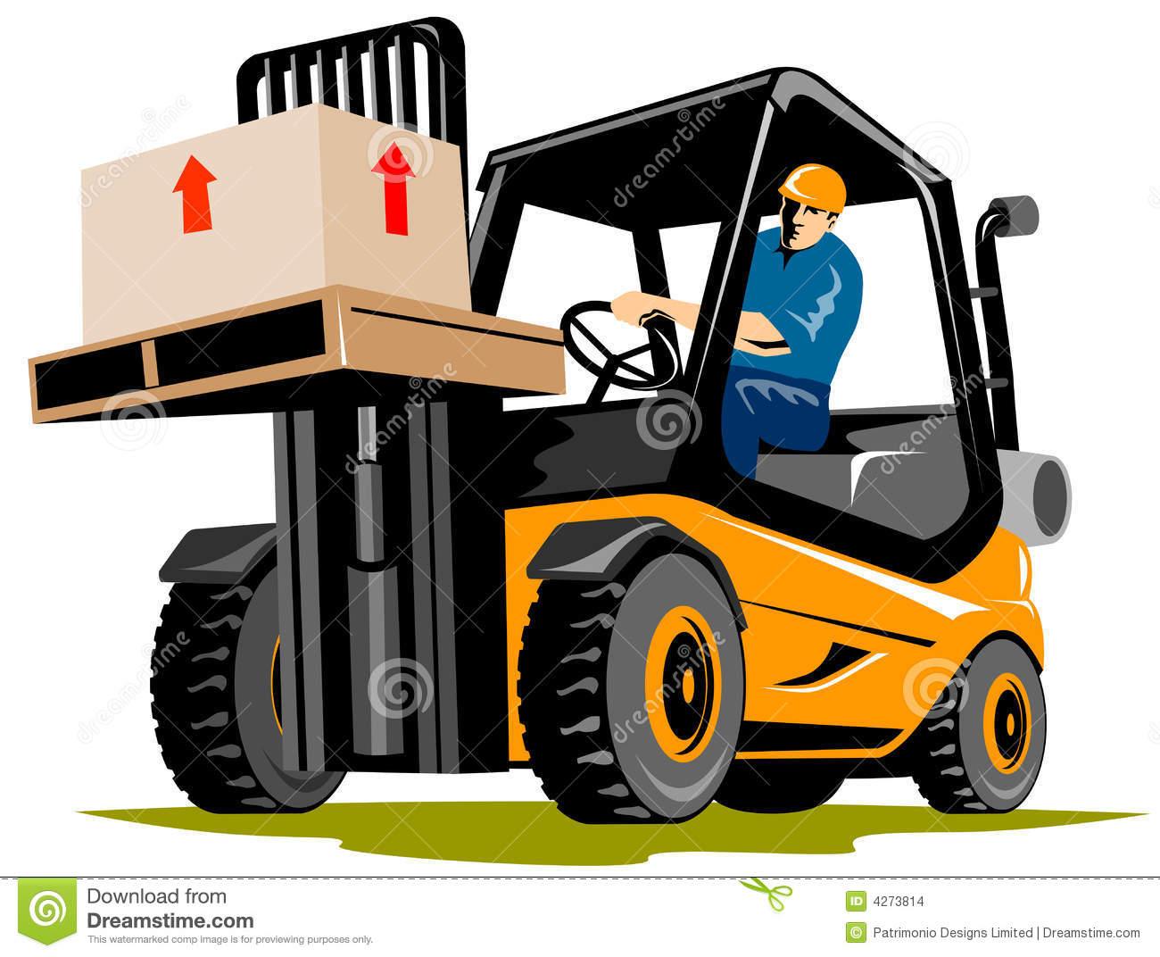 Forklift truck clipart.