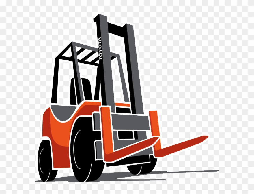 Toyota Cartoon Forklift.